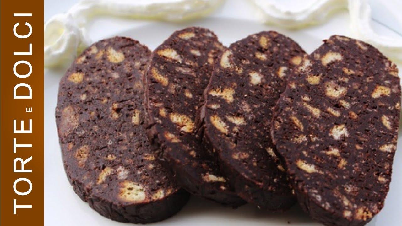 Salame Di Cioccolato Ricetta Semplice Youtube