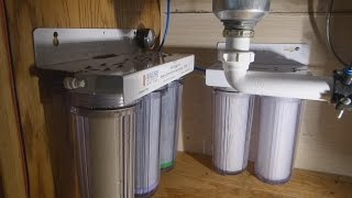 DIY Home Water Filter (5 stage no RO)(1 hour complete build video. Who loves ya baby? Parts list: http://designedbyinstinct.com/waterfilters/ My take on a 5 stage water filter system. Lowest recurring ..., 2014-12-06T11:50:59.000Z)