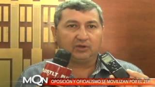 OPOSICIÓN Y OFICIALISMO SE MOVILIZAN POR EL 21F