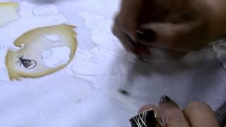 Pintura em fralda com entretela Parte 2/2 – Filó Frigo