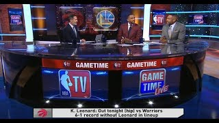 GameTime - Kawhi Leonard out for Raptors vs Warriors Rematch | Pregame | December 12, 2018