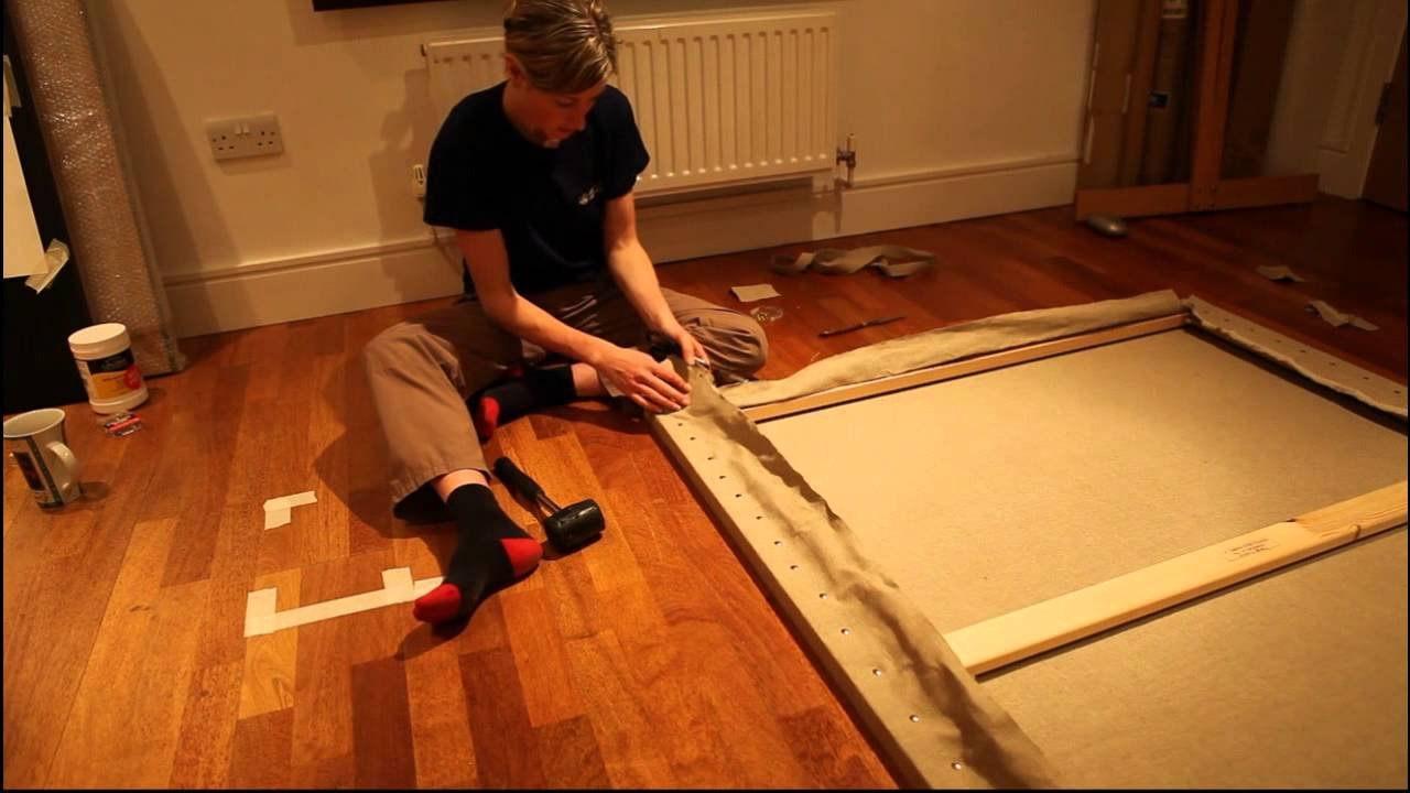 Preparing a traditional linen canvas for the kambala for How to prepare metal for painting