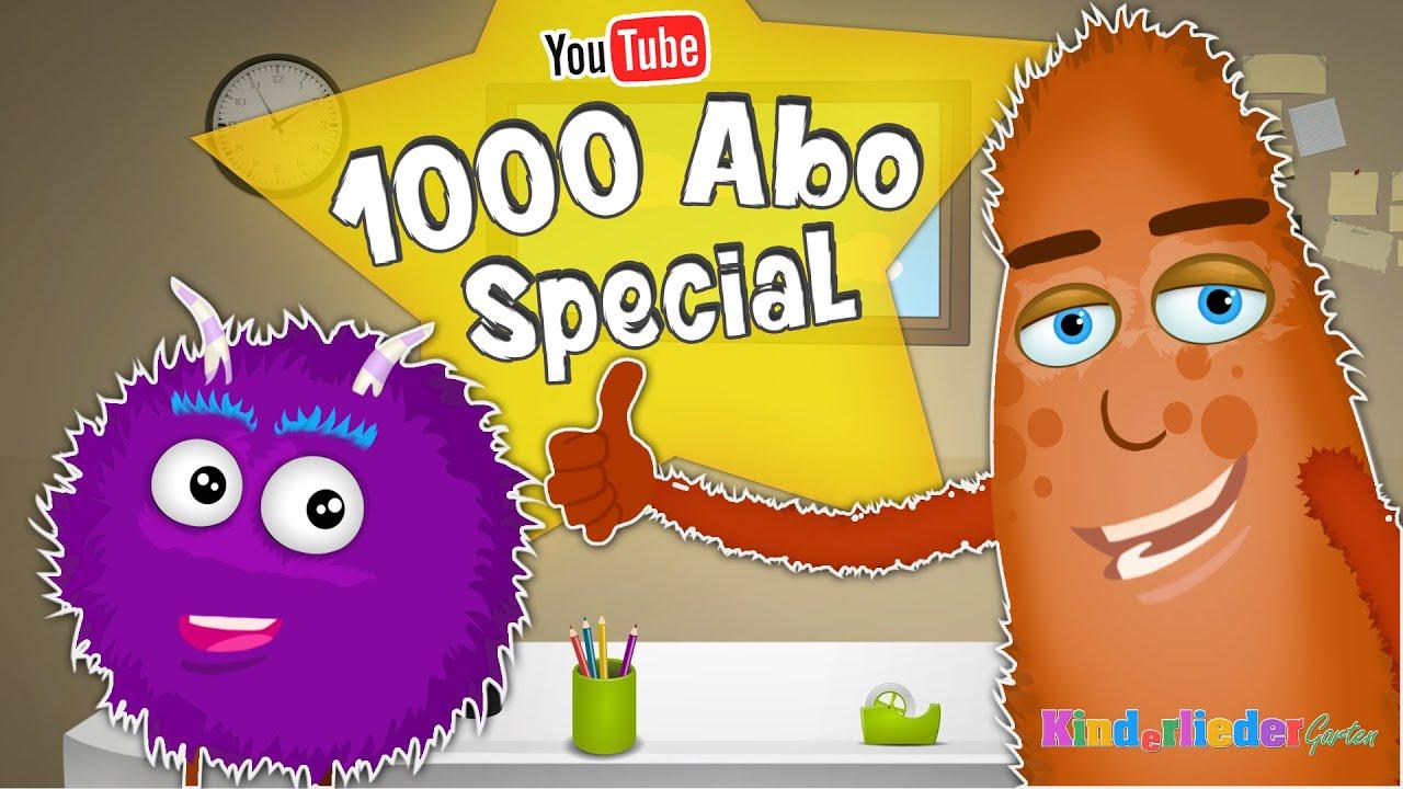 ❤ YouTube 1000 Abo-Special mit den Little Mons: Abonnier den Kanal • Kinderliedergarten