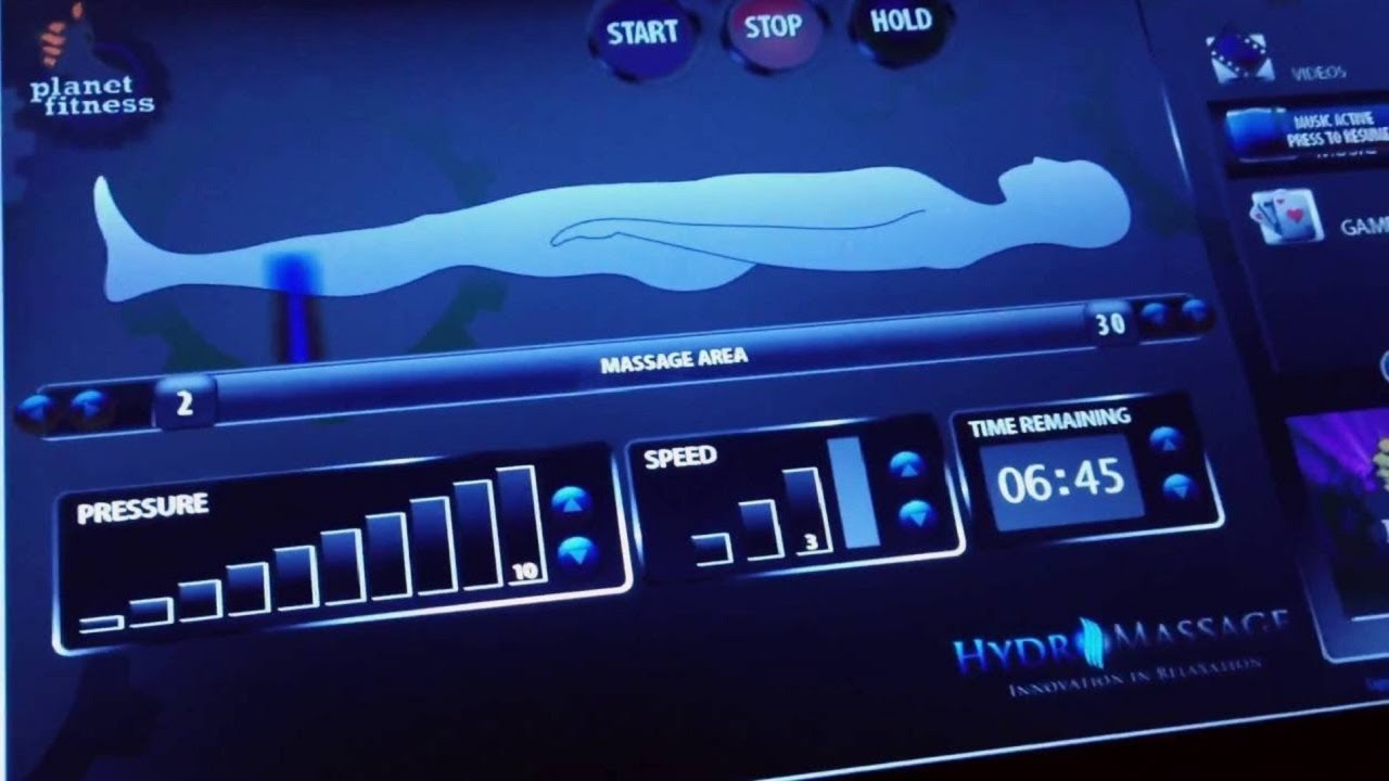 Planet Fitness HydroMassage: Watch this before you go? | Planet Fitness  Hydro Massage Bed Review
