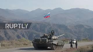 Nagorno-Karabakh: Russian peacekeepers enter disputed region through Lachin corridor