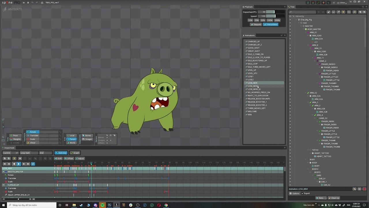 BIG PIG -  Spine 2D animation showcase
