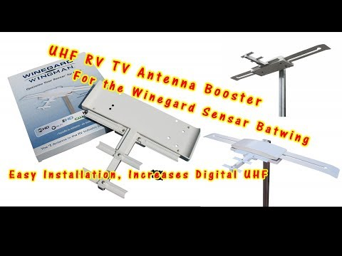 HOW TO INSTALL RV WINEGARD WINGMAN UHF TV ANTENNA BOOSTER on