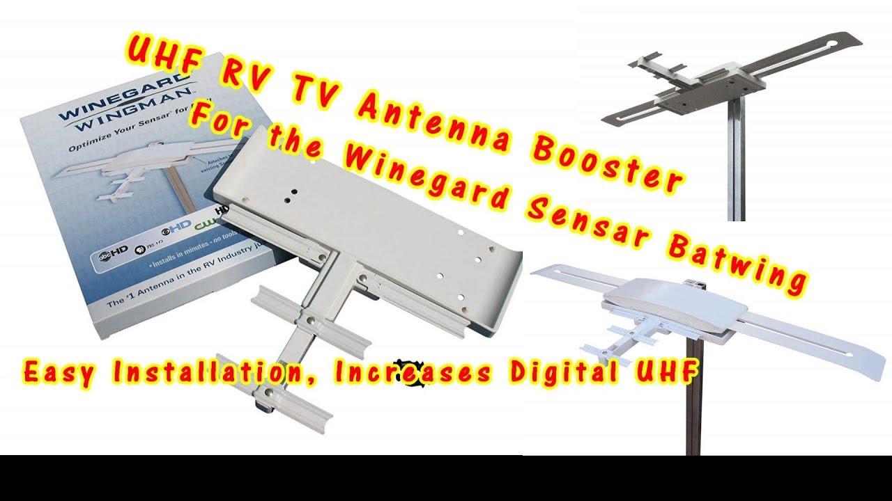 Winegard RV-WING Wingman UHF TV Antenna Booster For The Sensar Batwing Digital