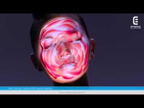 Real-Time Face Tracking & 3D Projection Mapping | Carthage Event Tv