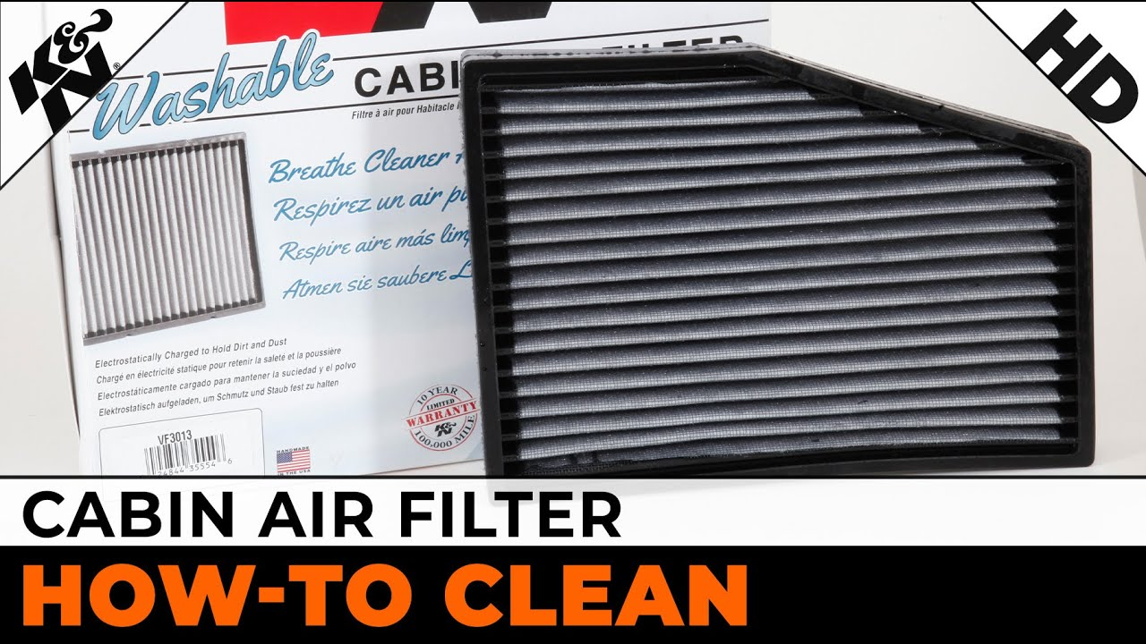 VF2000 K/&N WASHABLE CABIN AIR FILTER ELEMENT POLLEN
