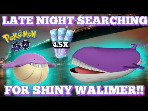 🔴 LIVE NOW 🔴 SHINY WALIMER  WEATHER BOOSTED  🐋  LATE NIGHT 🌟 POKEMON GO NYC 🗽