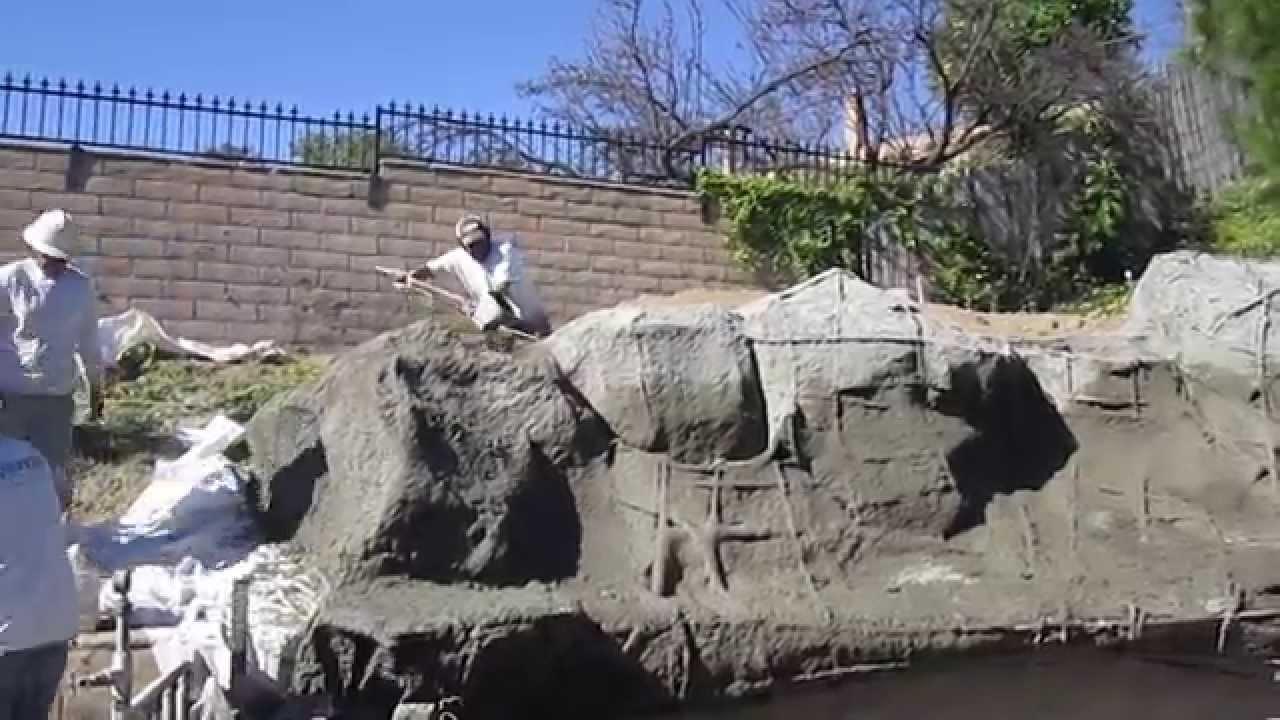 Koi Pond Construction Part 6 Faux Artificial Boulders