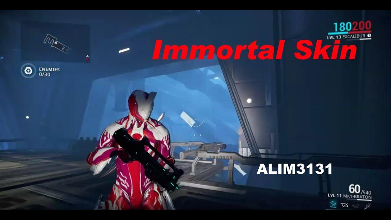 Warframe Immortal Skin Excalibur