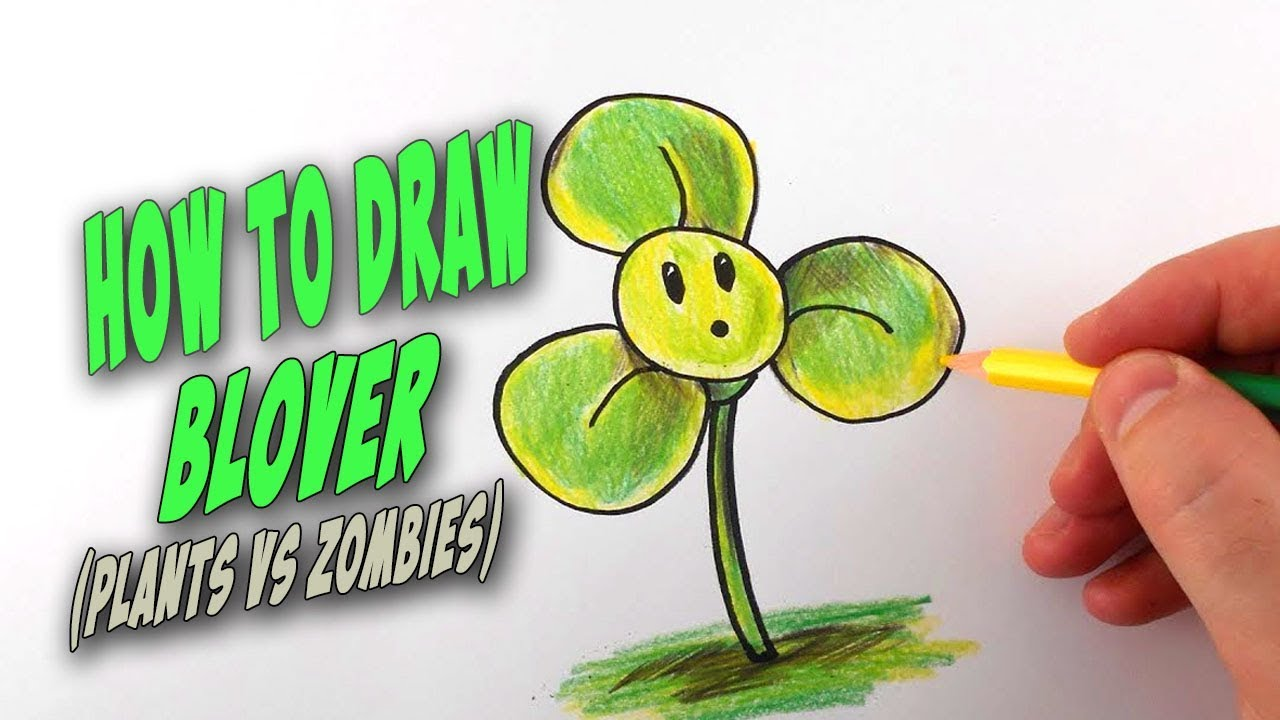 how to draw blover from plants vs zombies u2013 mr cute cartoon
