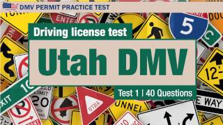 Driving license test: Utah DMV learners permit 1