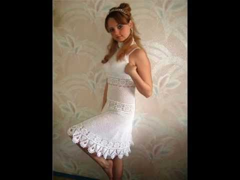 how to crochet summer dress free pattern - YouTube