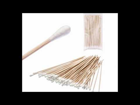 """Iebeauty Cotton Swabs Swab Applicator Q-tip 100 Pieces 6"""" EXTRA LONG Wood Handle STURDY!"""