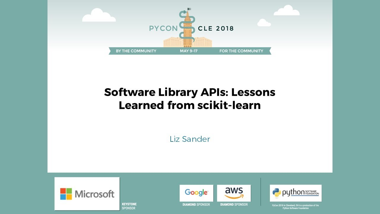 Image from Software Library APIs: Lessons Learned from scikit-learn