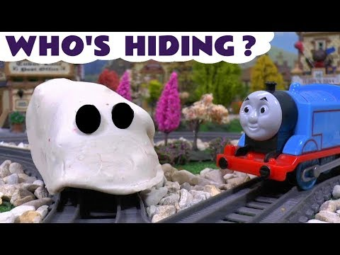 Thomas & Friends Toy Trains with Play Doh - Who's Hiding Spooky Ghost Train Gamefor kids TT4U
