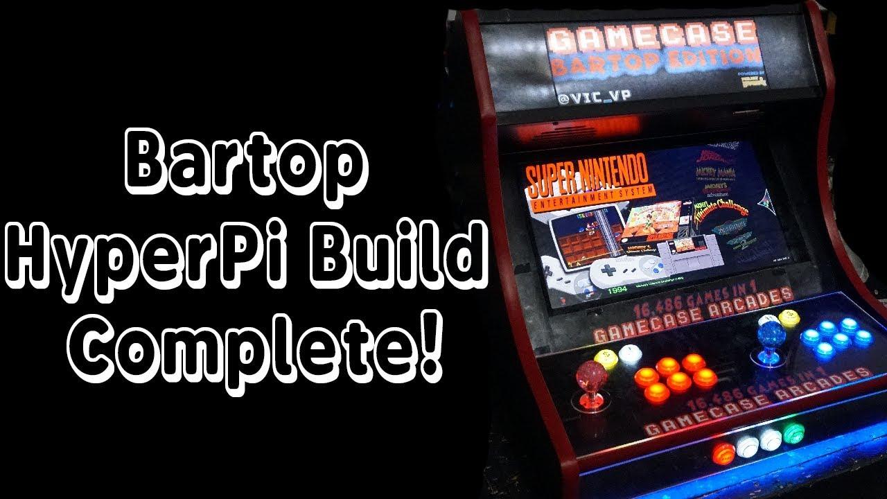 Bartop Arcade - Hyperpie Build Complete! - YouTube
