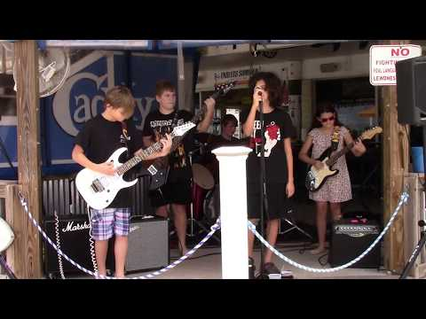 Awesome Tampa Kid Band covers Nirvana at beach in Treasure Island, Florida.