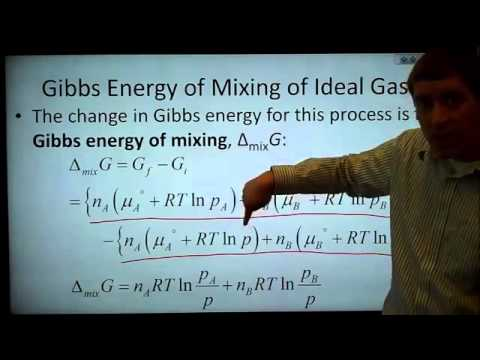 CH401 5.2 The Thermodynamics of Mixing