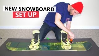 How to Set Up your Snowboard + First Trick to Learn