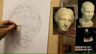 Афродита (2). Обучение рисунку. Портрет. 41 серия