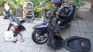 Scooter disassembly plastik ta'mirlash-bir sharh..