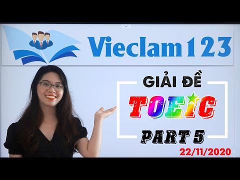 Giải đề thi TOEIC Part 5 - Đề thật của IIG ngày 22/11/2020