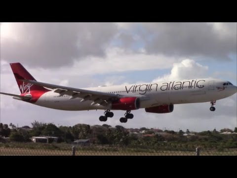 """Winter"" Plane Spotting at Barbados Grantley Adams International Airport (BGI)"