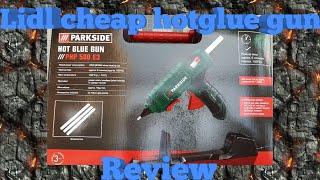 #hotgluegun Lidl Cheap hot glue gun review