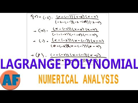 Lagrange Interpolating Polynomial - Easy Method