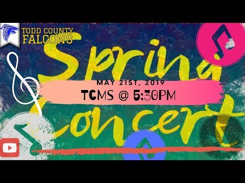 Todd County Middle School Spring Concert 2019