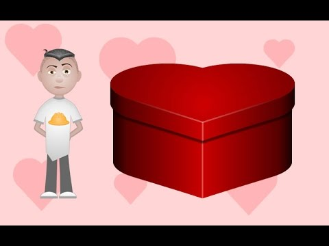 Heart Shaped Box Valentines Day Card Graphics Tutorial - YouTube