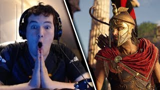 FIGHT THE MINOTAUR?! | Assassin's Creed Odyssey Trailer + Gameplay Reaction