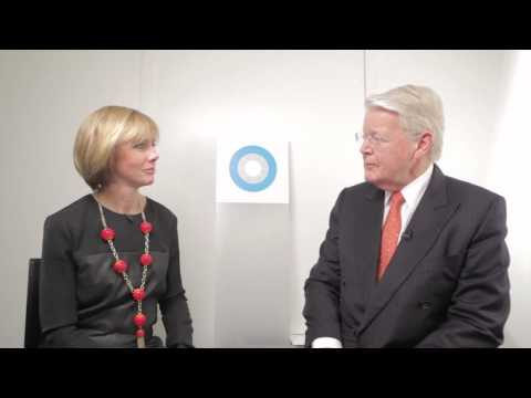 President Ólafur Ragnar Grímsson interviews at Hub Culture Davos during WEF 2013