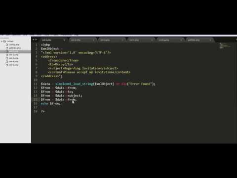 How To Parse An XML Data Using PHP