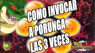 COMO INVOCAR A PORUNGA LAS 3 VECES /// Dragon Ball Z Dokkan Battle en Español