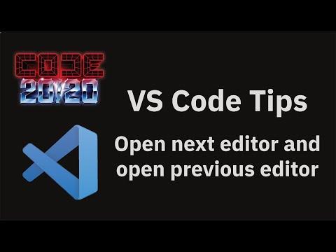 Open next editor and open previous editor