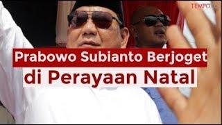 Prabowo Subianto Berjoget di Perayaan Natal