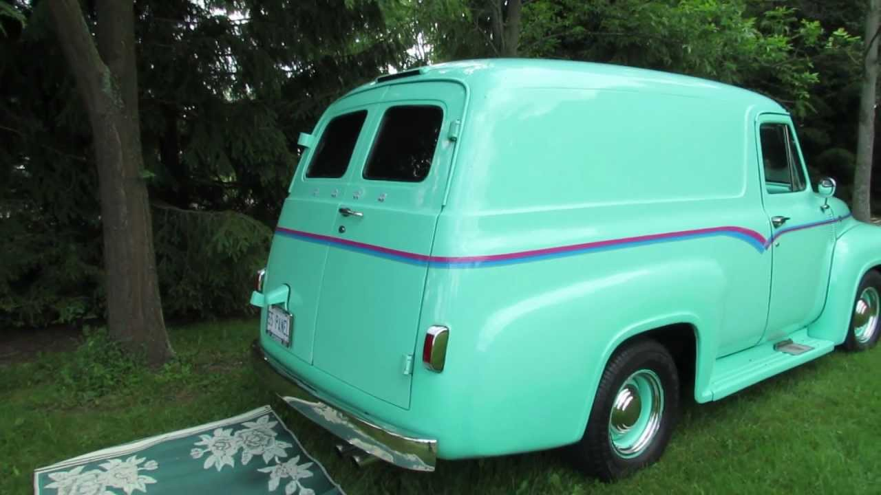 1955 Ford Panel Van Youtube F100 Truck