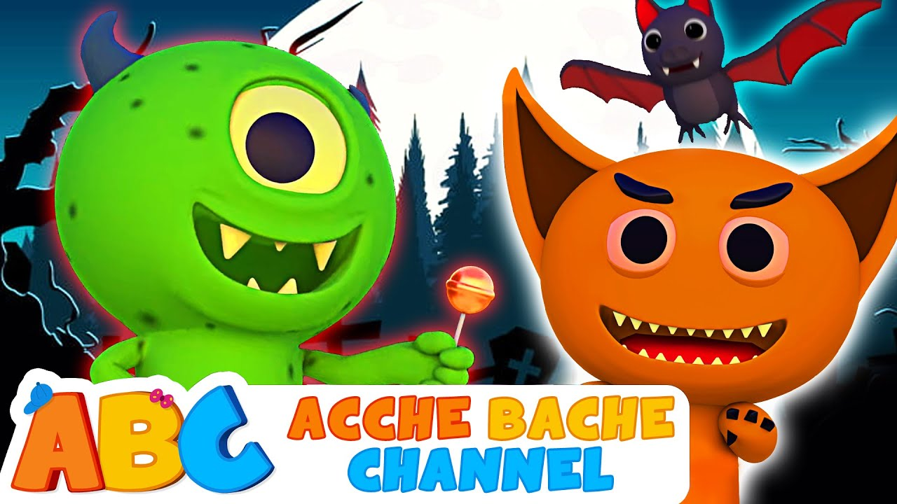 Boo Boo Kaun Ho Tum? Halloween Songs 2020 | Acche Bache Channel | 3D Hindi Spooky songs for Kids
