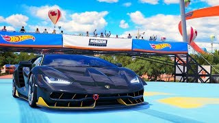 Forza Hot Wheels - Part 14 - Lamborghini Centenario vs Hot Wheels Track!
