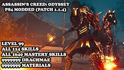 Assassin's Creed Odyssey - Level 99 & All 1754 Skills Unlocked (ALL MASTERY SKILLS) PS4 MODDED SAVE