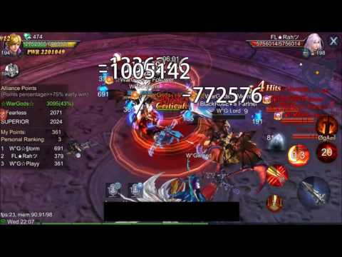 Goddess: Primal Chaos Ally WAR WarGods vs Fearless vs SUPERIOR [HD]