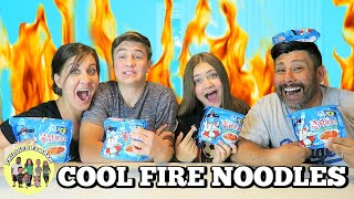 🔥 COOL FIRE NOODLE CHALLENGE 🔥 | Samyang SPICY ICE TYPE Ramen  | PHILLIPS FamBam Challenges