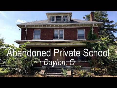 Exploring an abandoned private school in Dayton | Someone's living inside