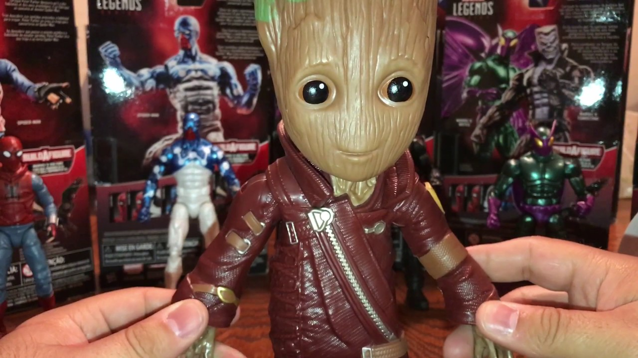 "2 WALMART EXCLUSIVE 10/"" RAVAGER OUTFIT GROOT Marvel Guardians of the Galaxy Vol"
