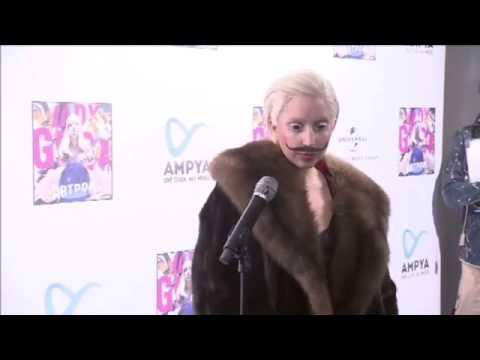 Download Lady Gaga - blue carpet at AMPYA (Oct 24, 2013)